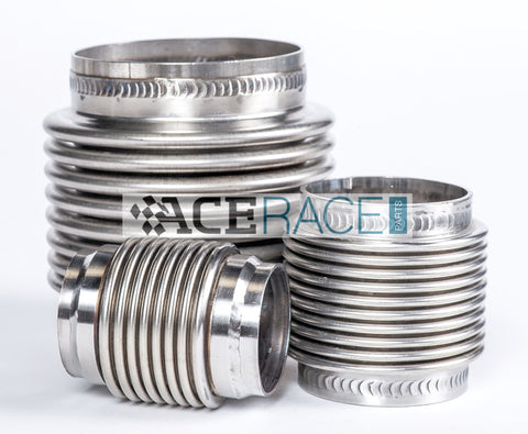 "3.000"" Flex Bellow Assembly 321 Stainless - Ace Race Parts"