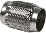 "2.500"" ID x 4"" Long Flex Coupling (Inner Braid) 304 Stainless"