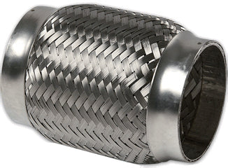 "3.000"" ID x 8"" Long Flex Coupling (Inner Braid) 304 Stainless"