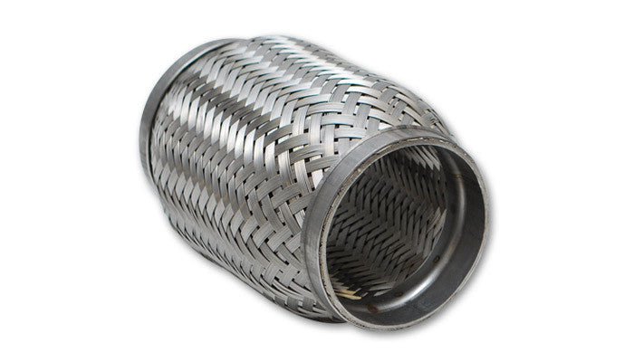 "Vibrant 2.250"" Standard Flex Coupling (Braided) 304 Stainless (62704) - Ace Race Parts"