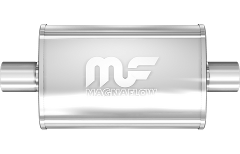 "MagnaFlow Universal Muffler - 2.0"" Inlet/Outlet - 4"" x 9"" Oval Body - 18"" Long (11244) - Ace Race Parts"