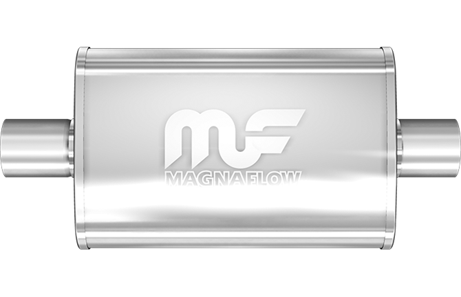 "MagnaFlow Universal Muffler - 2.5"" Inlet/Outlet - 5"" x 8"" Oval Body - 14"" Long (12216) - Ace Race Parts"
