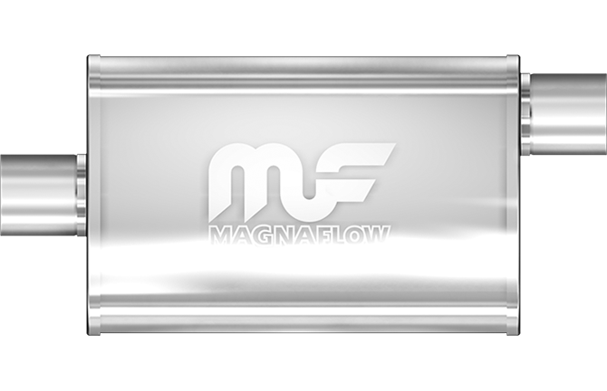 "MagnaFlow Universal Muffler - 2.5"" Inlet / 2.5"" Outlet (11226) - Ace Race Parts"