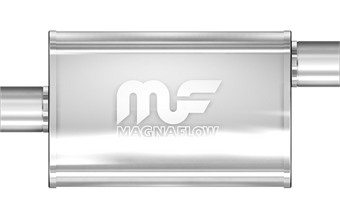 "MagnaFlow Universal Muffler - 2.25"" Inlet/Outlet - 4"" x 9"" Oval Body - 18"" Long (11255) - Ace Race Parts"