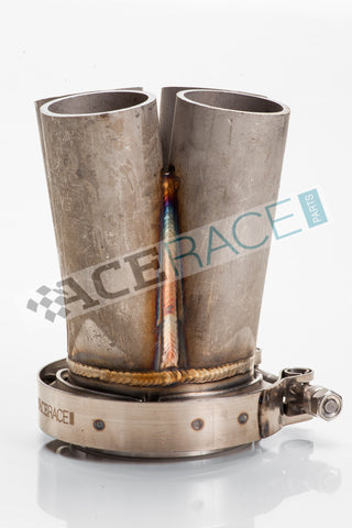 "3.000"" V-Band 4-1 Merge Collector (w/ V-Band Flange and Clamp) - 304 Stainless - Ace Race Parts"