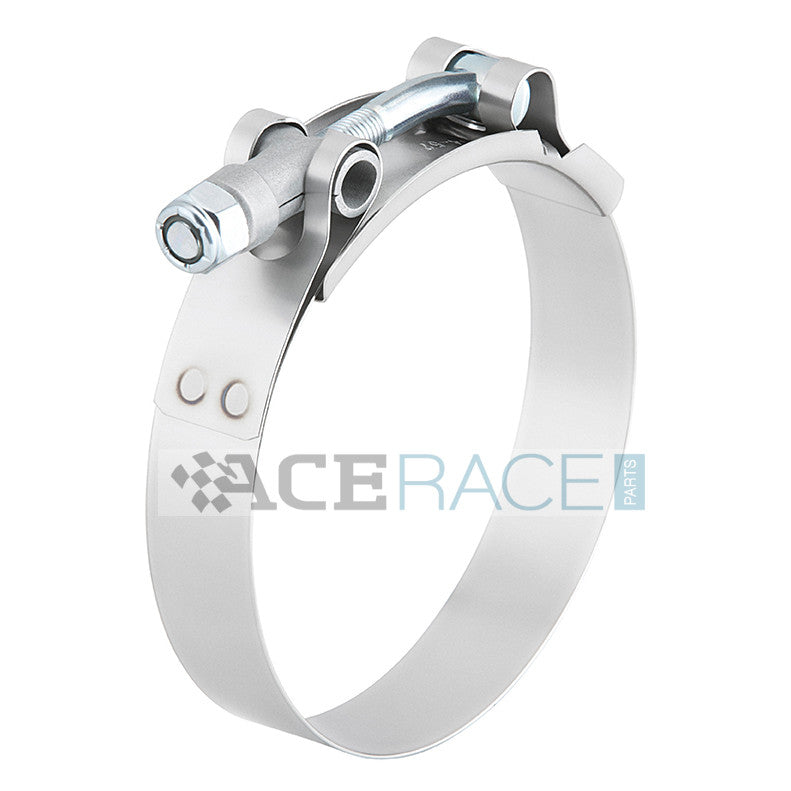 "2.250"" ID T-Bolt Clamp 304 Stainless - Ace Race Parts"