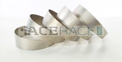 "4.000"" OD x 0.039"" (1mm) Short Radius (1D) Pie Cut CP1 Titanium (45° Bend - 5 Pieces Total) - Ace Race Parts"