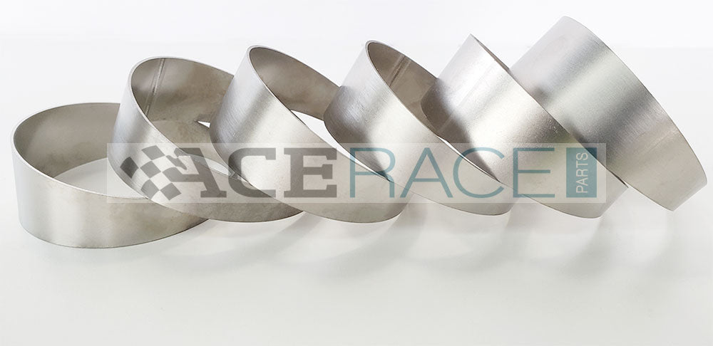"2.500"" OD x 0.039"" (1mm) Long Radius (1.5D) Pie Cut CP1 Titanium (90° Bend - 6 Pieces Total) - Ace Race Parts"