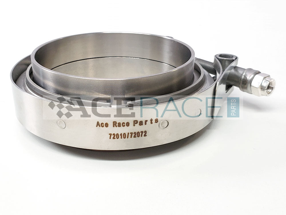 "3.500"" V-Band Assembly Titanium/Stainless Combination - Ace Race Parts"