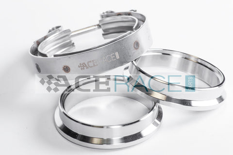 "2.500"" V-Band Assembly ""Male/Female"" 304 Stainless - Standard Clamp - Ace Race Parts"