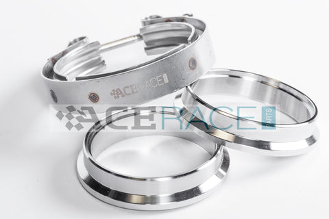 "2.500"" V-Band Assembly Mild Steel/Stainless Combination - Standard Clamp - Ace Race Parts"