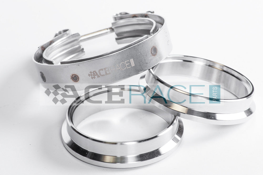 Ace Race Parts Stainless Steel V-Band Assembly with Male/Female Interlocking Flanges