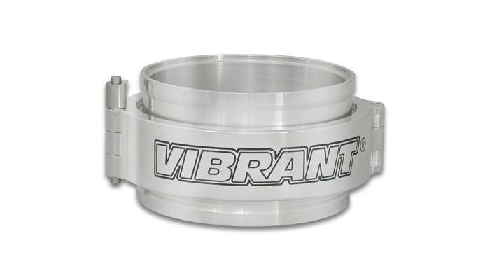 "Vibrant VanJen HD Clamp Assembly for 4.000"" OD Tubing - Polished Clamp - Ace Race Parts"