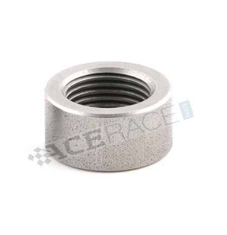 M18 x 1.5 O2 Sensor Bung - Stepped (Flat Bottom) - 304 Stainless - Ace Race Parts