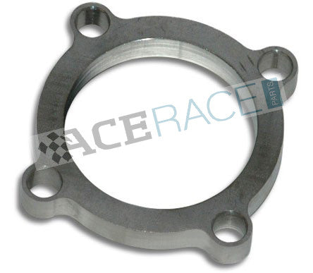 "GT30 / GT35 Turbo 4-Bolt Discharge Flange (2.5"" ID) 304L Stainless - Ace Race Parts"