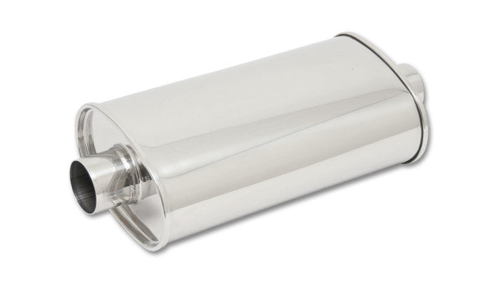 "Vibrant STREETPOWER Universal Muffler 2.5"" Inlet/Outlet 304 Stainless (1102) - Ace Race Parts"