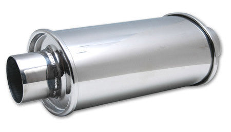 "Vibrant Ultra Quiet Resonator 2.50"" Inlet/Outlet 304 Stainless (1141) - Ace Race Parts"
