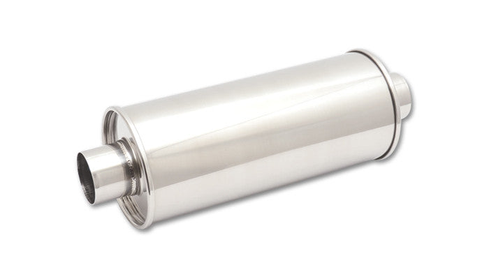 "Vibrant STREETPOWER Universal Muffler 2.5"" Inlet/Outlet 304 Stainless (1118) - Ace Race Parts"