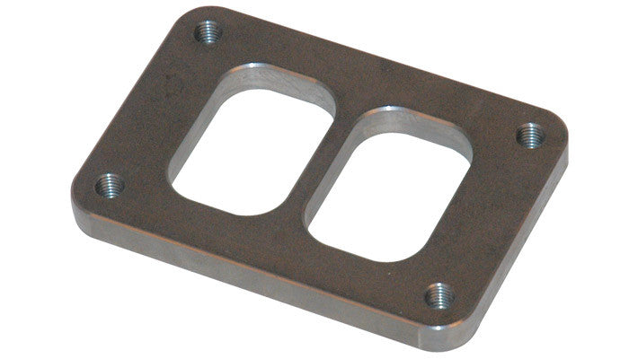 Vibrant T06 Turbo Divided Inlet Flange — Mild Steel - Ace Race Parts