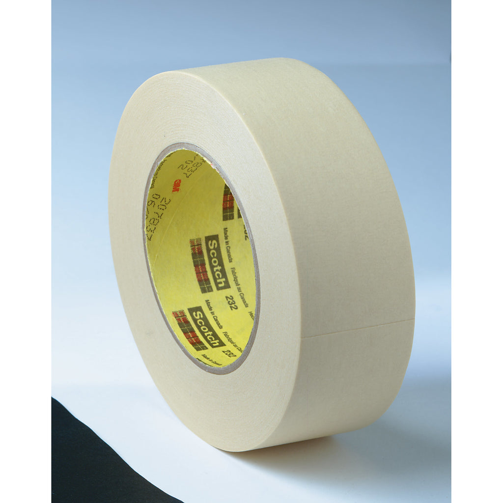 Scotch High Performance Masking Tape 232 Natural, 144 mm x 55 m,