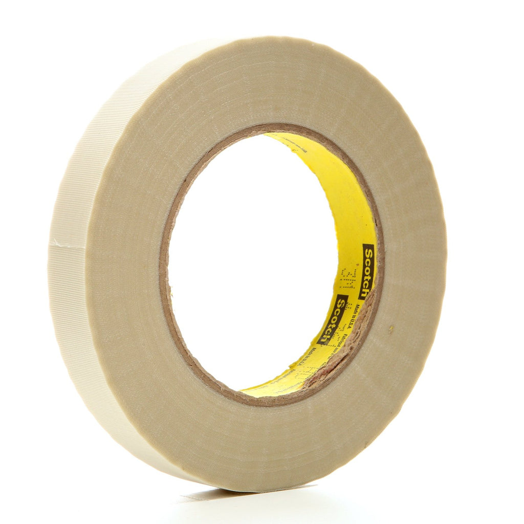 3M Glass Cloth Tape 361 White, 3/4 in x 60 yd 7.5 mil, 48 per ca