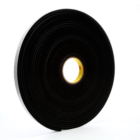3M Vinyl Foam Tape 4504 Black, 3/4 in x 18 yd, 12 per case