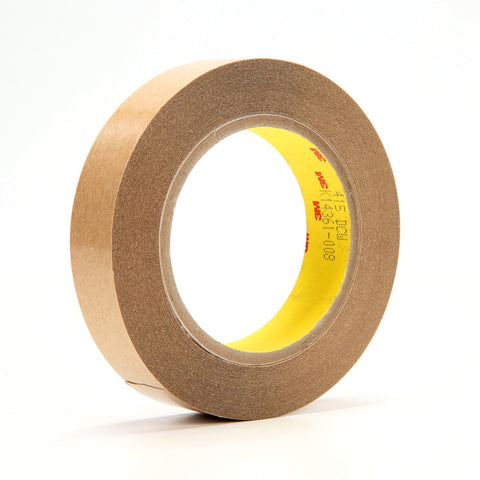 3M Double Coated Tape 415 Clear, 1 in x 36 yd 4.0 mil, 36 rolls