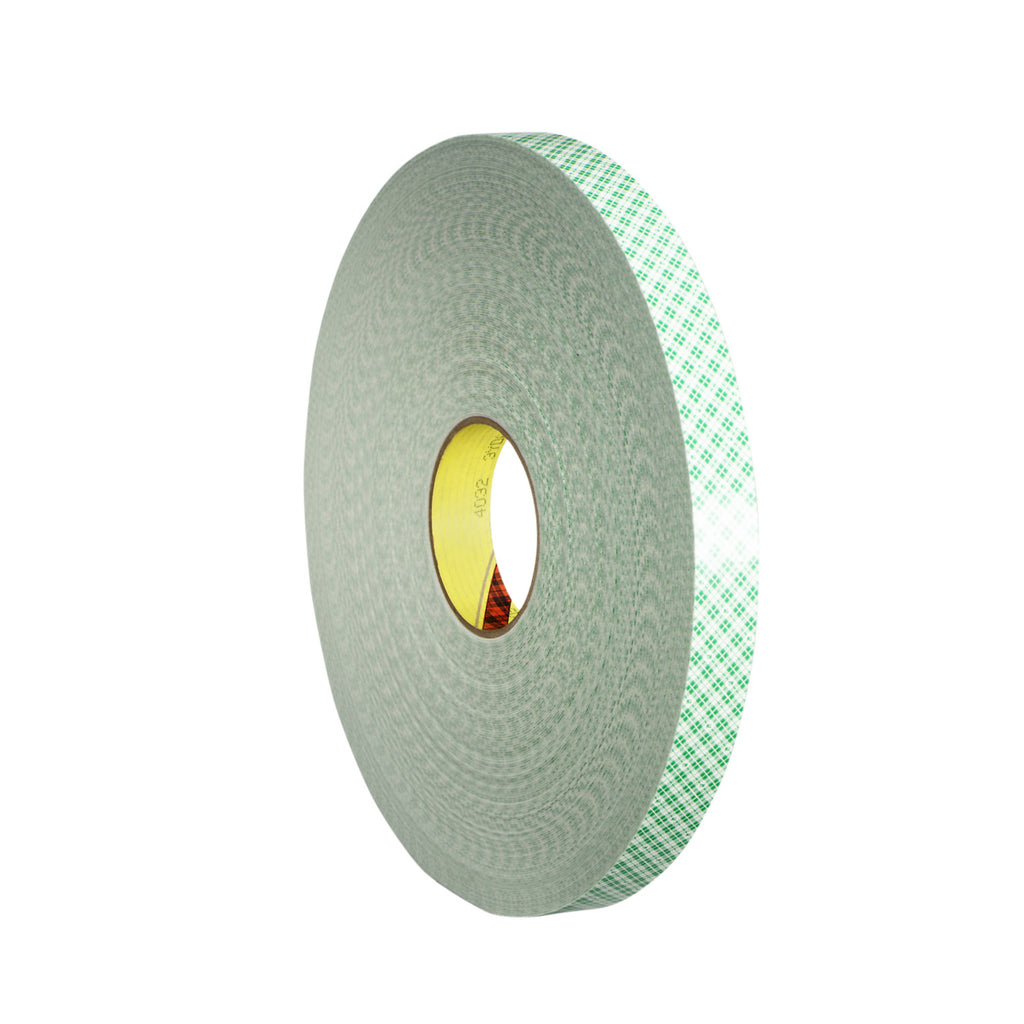3M Double Coated Urethane Foam Tape 4032 Off-White, 4 in x 72 yd