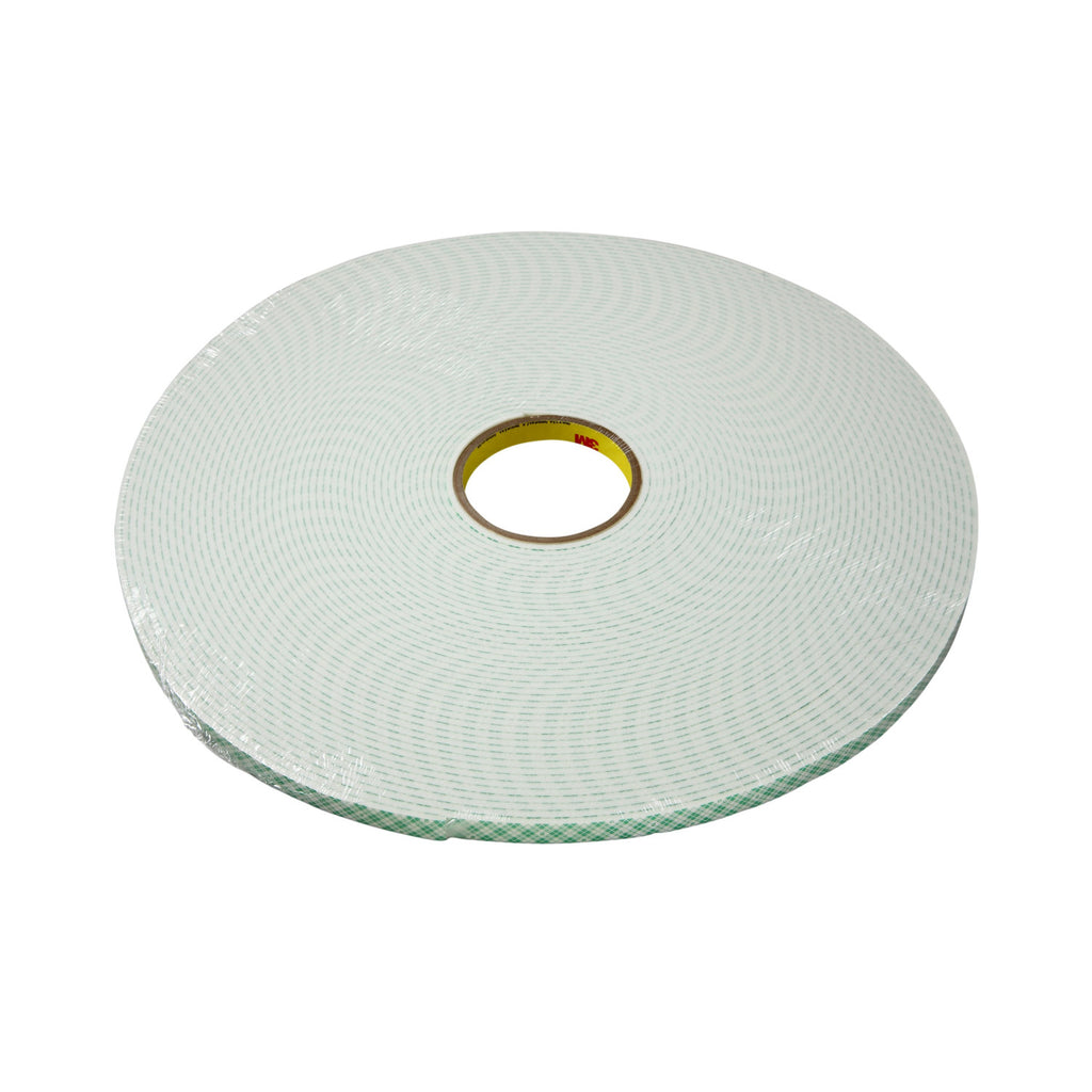 3M Double Coated Urethane Foam Tape 4004 Off-White, 3 in x 18 yd