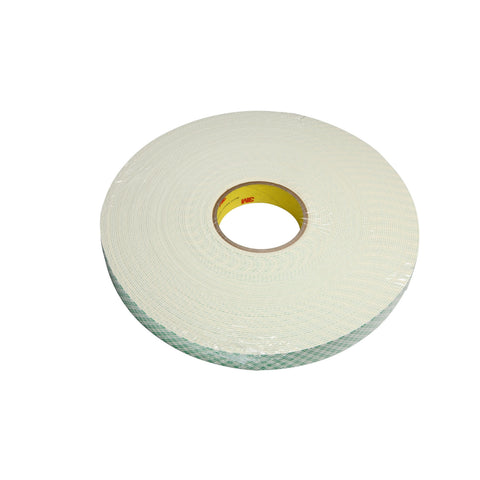 3M Urethane Foam Tape 4116 Natural, 1/2 in x 36 yd 62.0 mil, 3 p