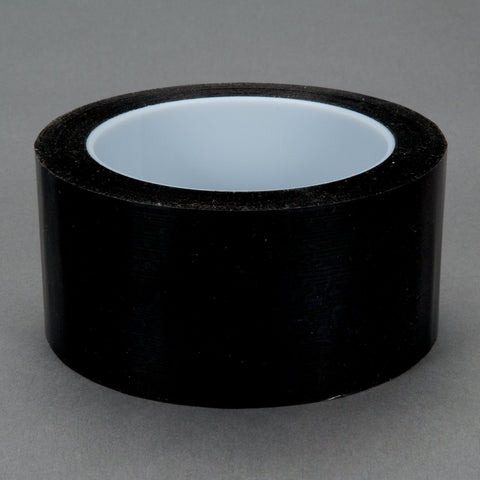 3M Polyester Film Tape 850 Black, 1/2 in x 72 yd 1.9 mil, 72 per