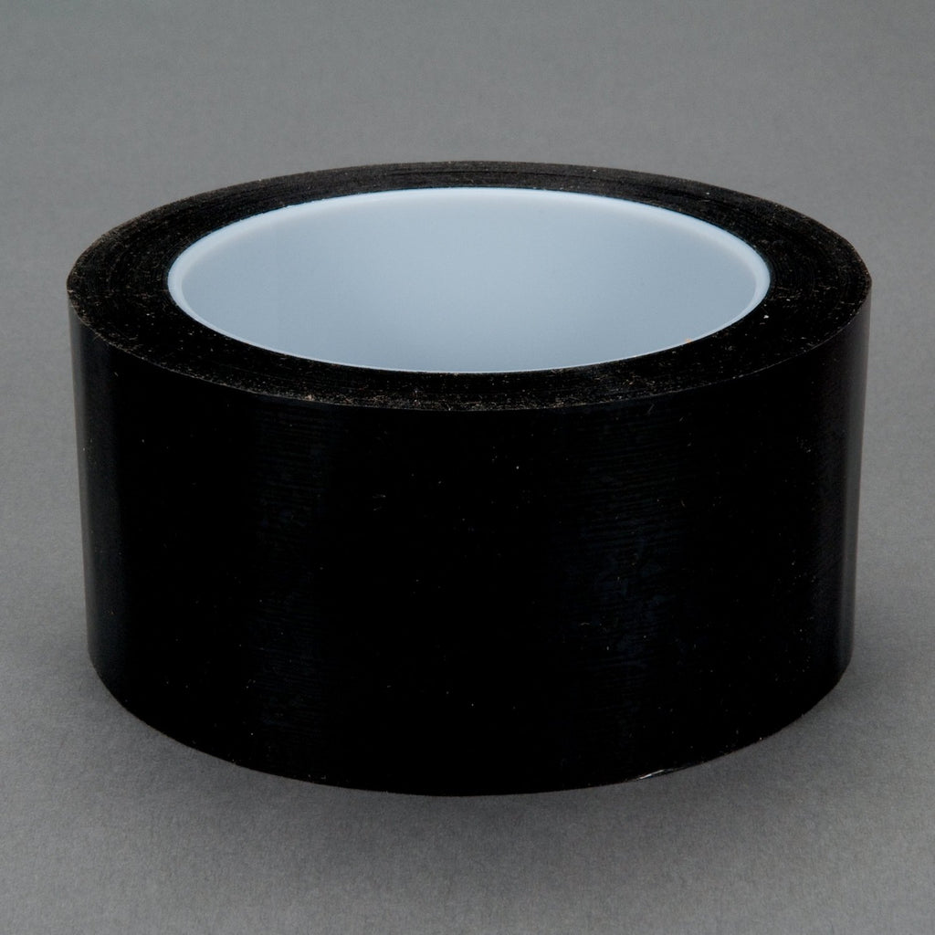 3M Polyester Film Tape 850 Black, 2 in x 72 yd 1.9 mil, 24 per c