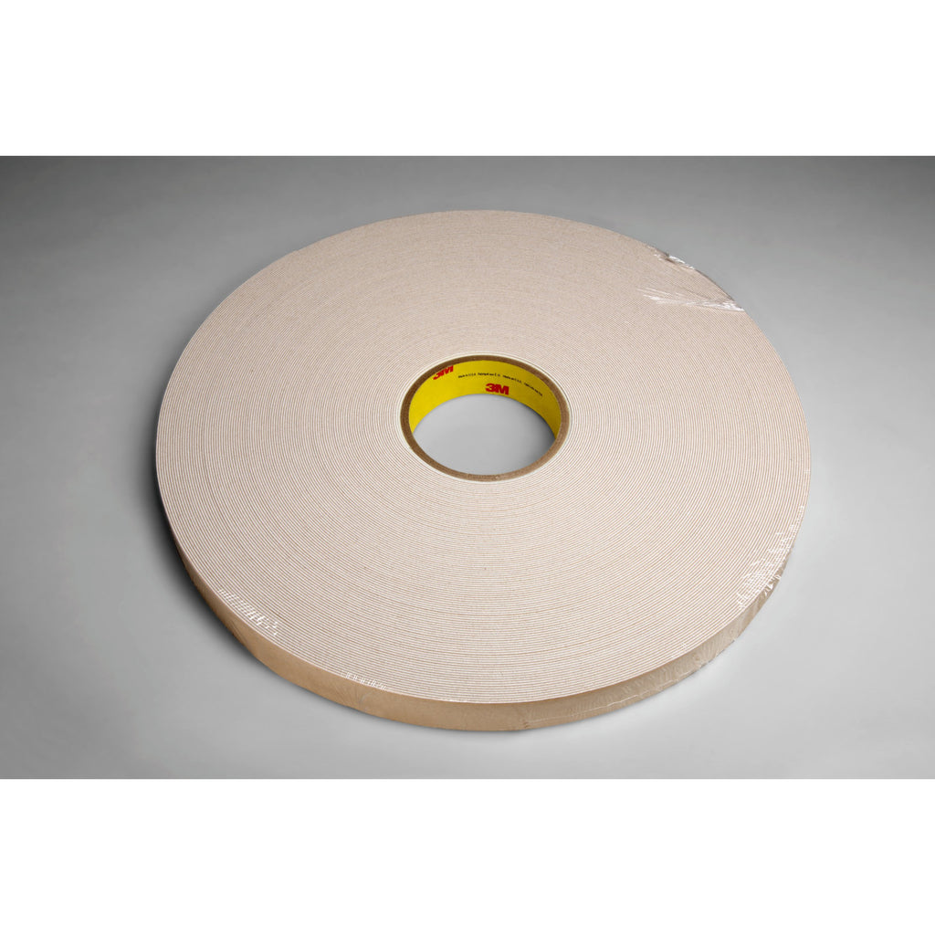 3M Double Coated Urethane Foam Tape 4085 Natural, 1/2 in x 72 yd