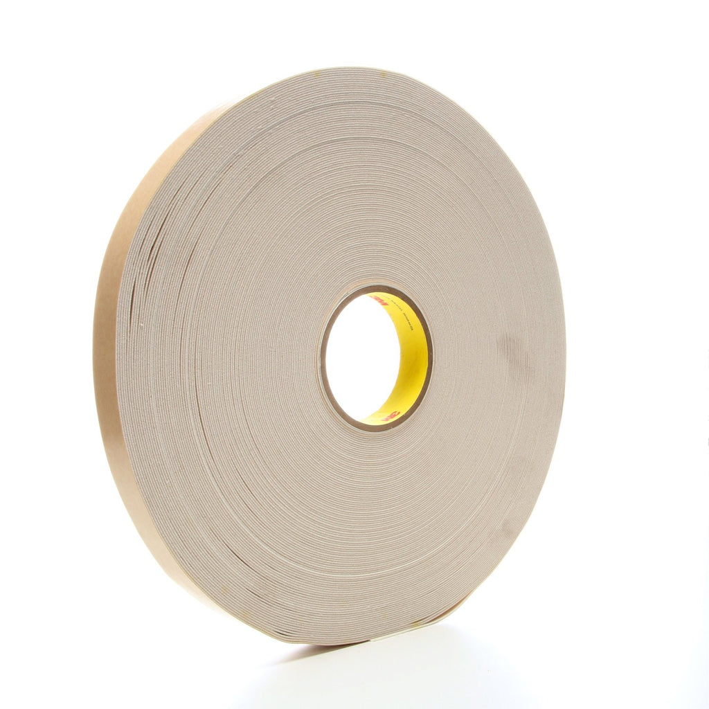3M Double Coated Urethane Foam Tape 4085 Natural, 1 in x 72 yd 3