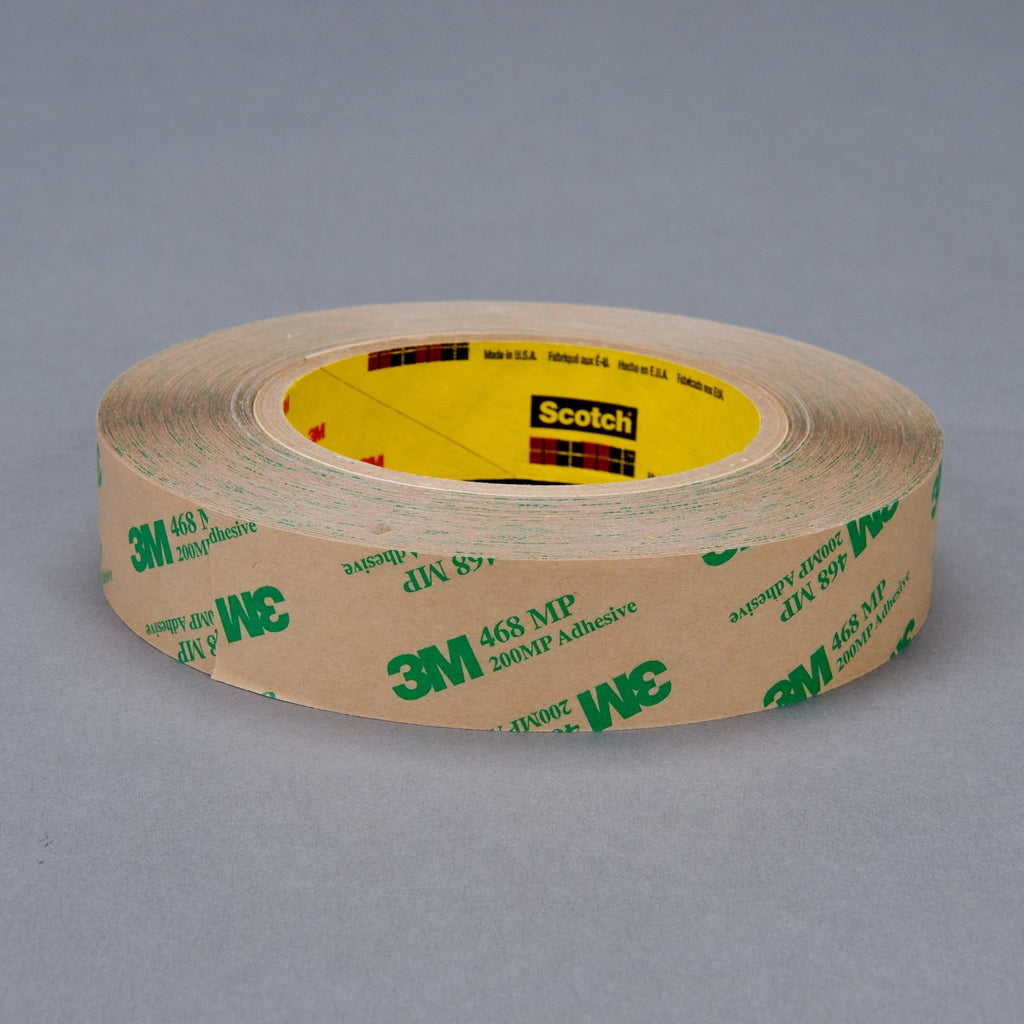 3M Adhesive Transfer Tape 468MP Clear, 1/2 in x 60 yd 5.0 mil, 7