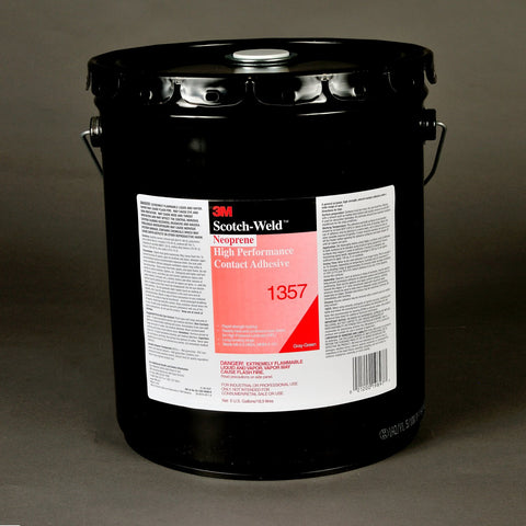 3M Scotch-Weld Neoprene HP Contact 1357 Gry-Grn, 5 gal Pail
