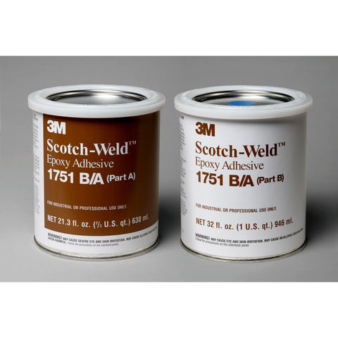 3M Scotch-Weld Epoxy Adhesive 1751 Gray B/A, 1 qt Kit