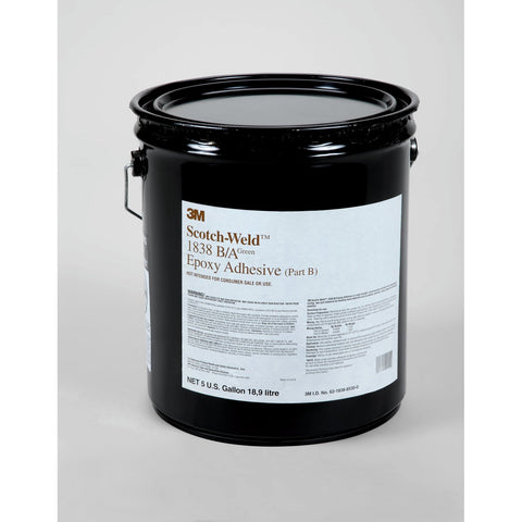 3M Scotch-Weld Epoxy Adhesive 1838 Green Part B, 5 gal pail Drum