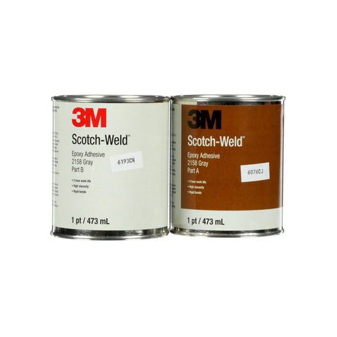 3M Scotch-Weld Epoxy Adhesive 2158 Gray B/A, 1 pt Kit