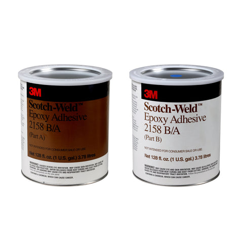 3M Scotch-Weld Epoxy Adhesive 2158 Gray B/A, 1 gal Kit