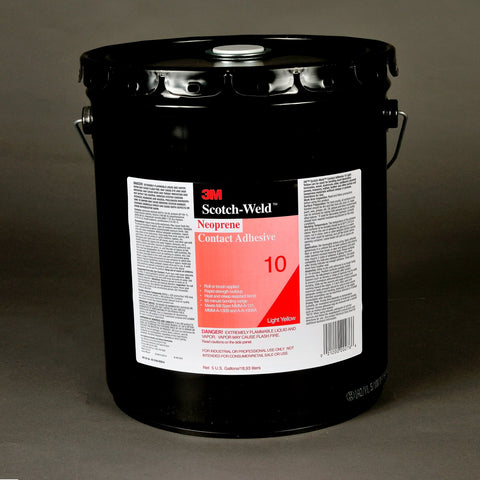 3M Scotch-Weld Neoprene Contact 10 Lt Ylw, 54 gal Agit Drum