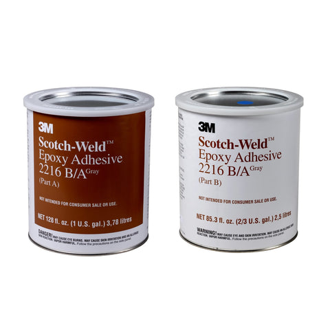 3M Scotch-Weld Epoxy Adhesive 2216 Gray B/A, 1 gal kit