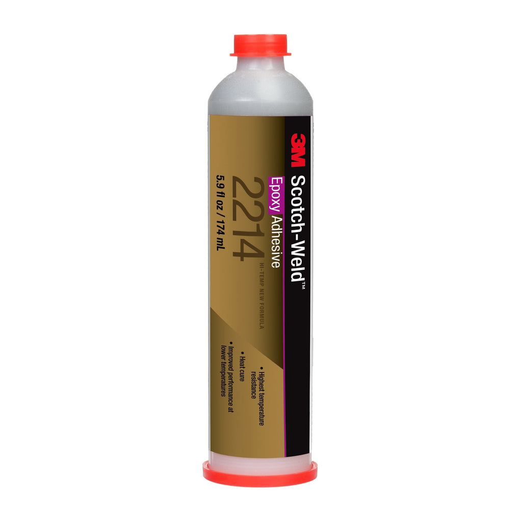 3M Scotch-Weld Epoxy Adhesive 2214 Hi-Temp New Formula Gry 6 oz