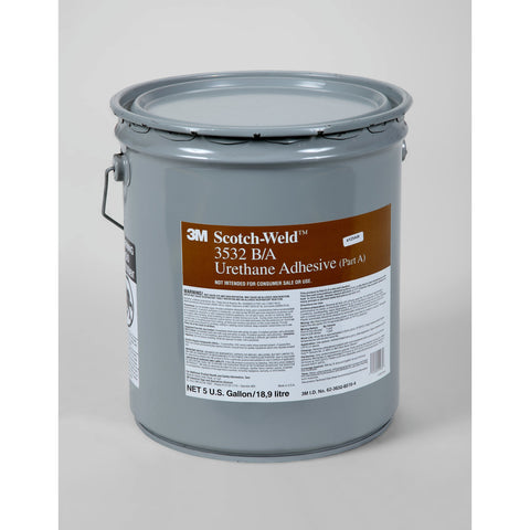 3M Scotch-Weld Urethane Adhesive 3532 Brown Part A, 5 gal pail