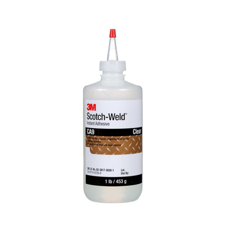 3M Scotch-Weld Instant Adhesive CA9 Clear, 1 lb/453 g Bottle