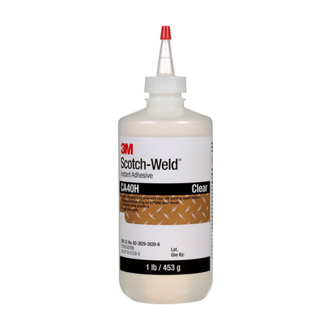 3M Scotch-Weld Instant Adhesive CA40H Yellow, 1 lb/453 g