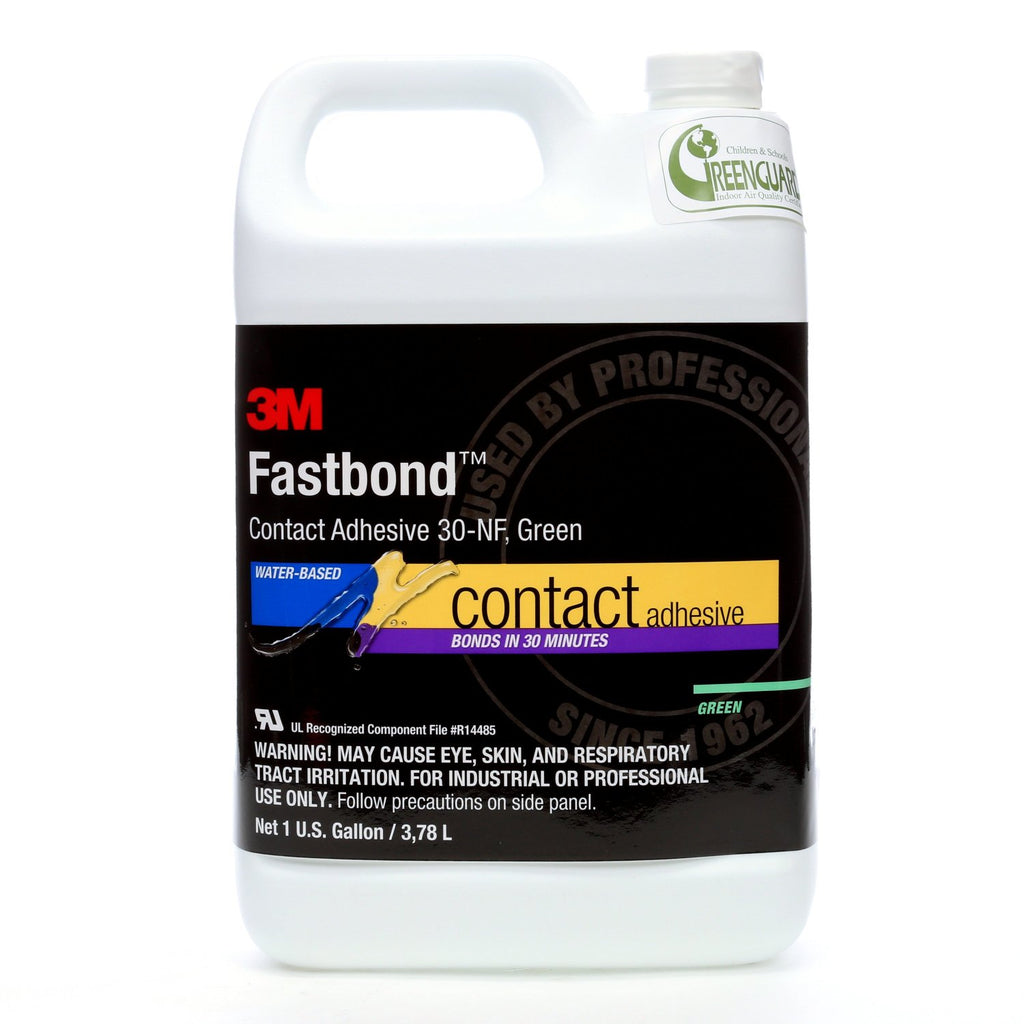 3M Fastbond Contact Adhesive 30NF Green, 1 gal, 4 per case