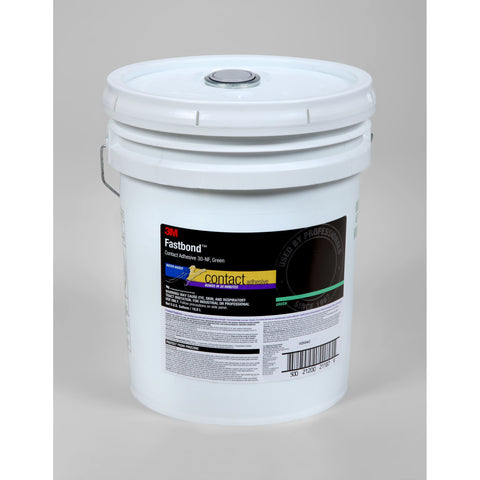 3M Fastbond 30NF Contact Adhesive Green, 5 gal pail, 1 per case