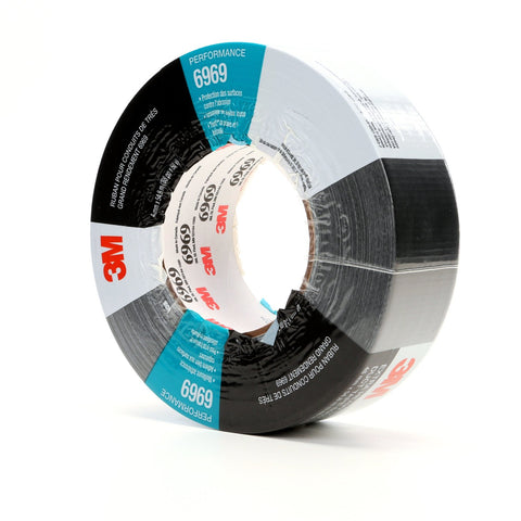 3M Duct Tape 6969 Black, 48 mm x 54.8 m 10.7 mil, 24 per case In