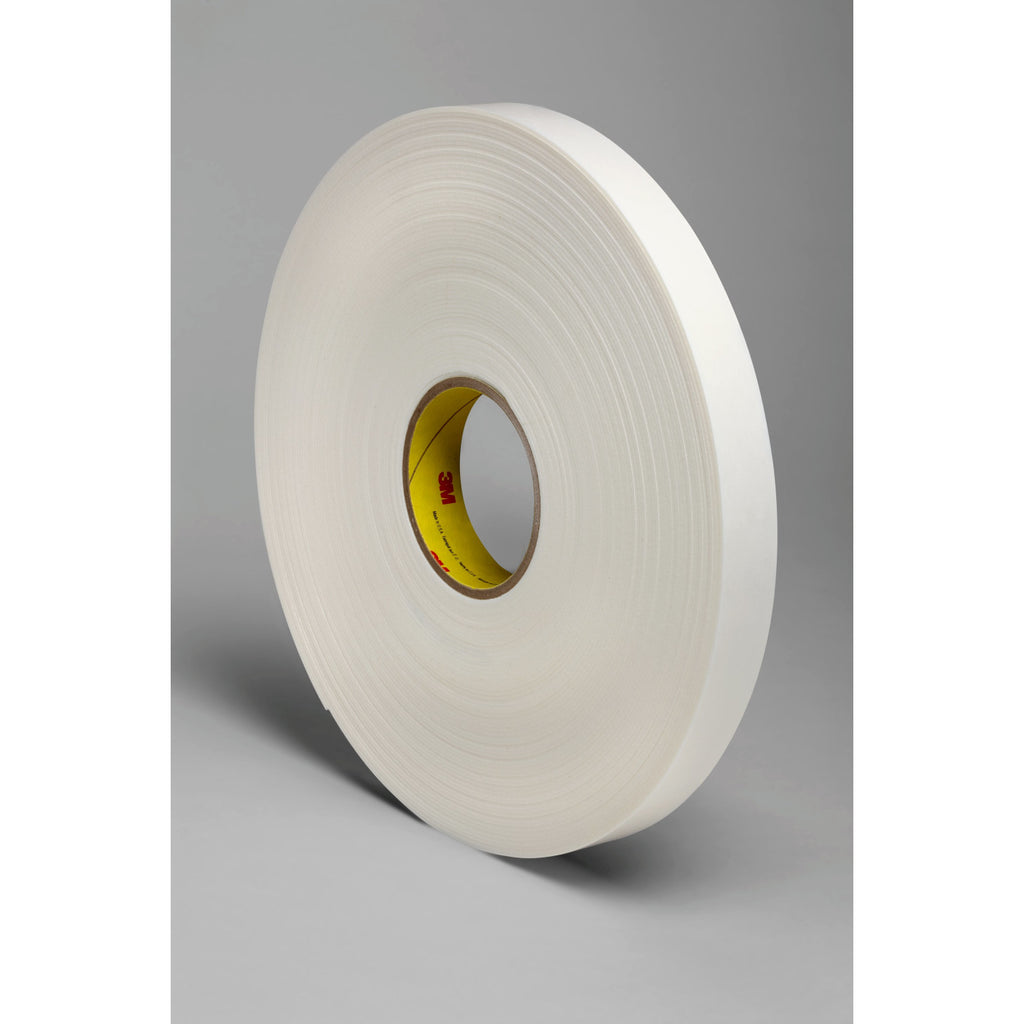 3M Double Coated Polyethylene Foam Tape 4466 White, 1 in x 36 yd